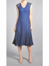 Komarov 14461 V-Neck Lace Yoke Dress S NVO