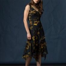 Komarov CTL12465 Long Sleeveless Asymmetrical Dress S SFG