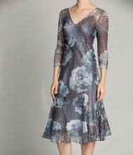 Komarov 3/4-Length Sleeve Chiffon Dress S VTT