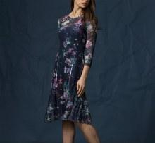 Komarov CTL17453 3/4 Sleeve Chiffon Dress S PXW