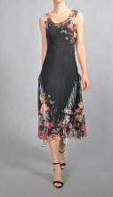 Komarov Sleeveless Ruffle Dress S Tulip Meadows