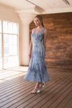 Komarov Sleeveless Maxi Dress VLL18436 S Denim