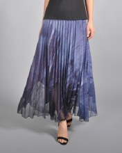 Komarov Long Chiffon Skirt PCH3323 XS Dark Crystal