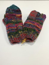 Lost Horizons Multi Color Finger Mittens O/S