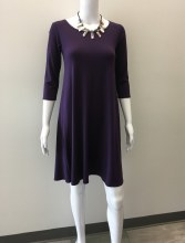 Salaam 3/4 Sleeve Lexi Dress XS Purple