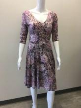 Salaam 3/4 Slv Marilyn Dress XS Pink Print