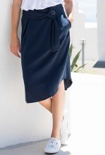 Marble 5744 Tencel Skirt XS Indigo