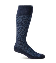 Sockwell Moderate Compression Sock Art Deco S - M Navy