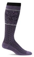 Sockwell Moderate Compression Sock Art Deco S- M Plum