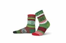 Solmate Adult Crew Socks XL Mistletoe