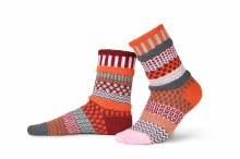 Solmate Adult Crew Socks M Persimmon