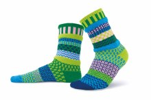 Solmate Adult Crew Socks S Water Lily