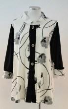 Cupcake 1026 Jacket w/Mandarin Colar S Black