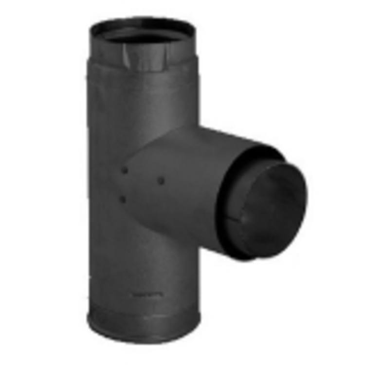 """Chimney/Stove PIpe PV Adapter Tee w/Cleanout Cap 4"""""""