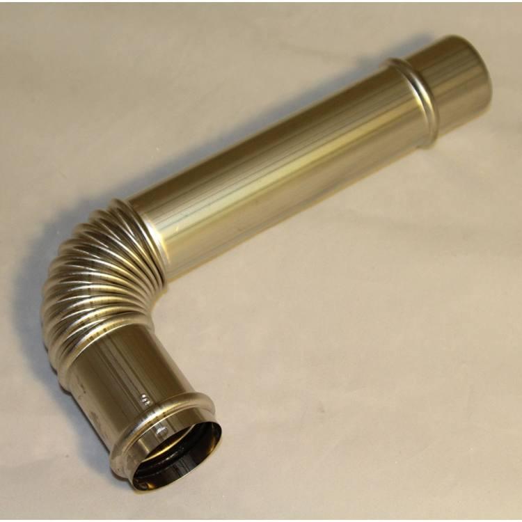 Exhaust Bent Elbow 3 1/8''F x 8''M, LASER 30, 300, OM-22, OM-23