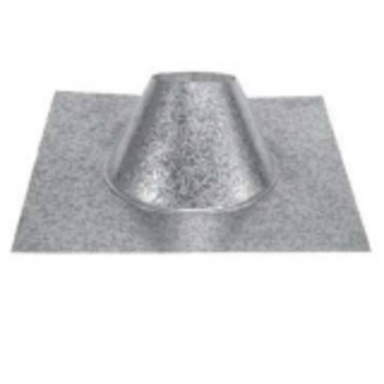 Chimney/Stove Pipe PV Roof Flashing, 4''