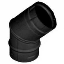 Stove Pipe PV Elbow 45 Degree Black, 4''