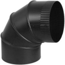 Stove Pipe Adjustable Elbow 90 Degree Black, 6''