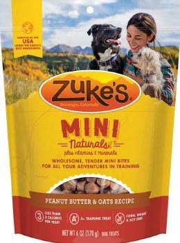 Zuke's Mini Naturals Peanut Butter & Oats Recipe Dog Treats 6oz