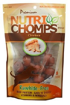 Premium Nutri Chomps Mini Chicken Knot Dog Treats 8 count