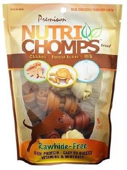 Premium Nutri Chomps 4 Inch Assorted Flavor Knots Dog Treats 9 count