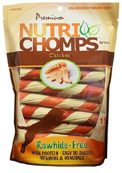 Premium Nutri Chomps Chicken Twist with Flavor Wrap Dog Treats 15 Count