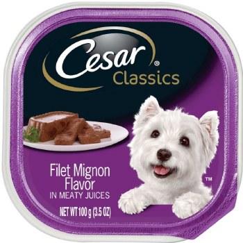Cesar Classics Pate Filet Mignon Flavor Dog Food Trays 3.5oz