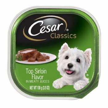 Cesar Classics Pate Top Sirloin Flavor Dog Food Trays 3.5oz