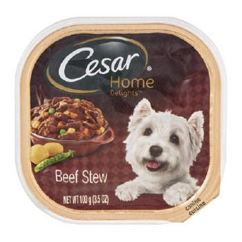 Cesar Home Delights Beef Stew Dog Food Trays 3.5oz