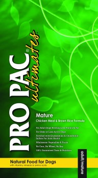 Pro Pac Ultimates Chicken Meal and Brown Rice Mature Dry Dog Food 28lb