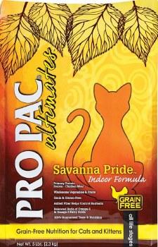Pro Pac Ultimates Savanna Pride Chicken Grain Free Indoor Dry Cat Food 5lb