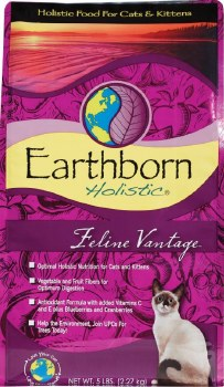 Earthborn Holistic Feline Vantage Grain Free Natural Dry Cat and Kitten Food 5lb