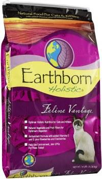Earthborn Holistic Feline Vantage Grain Free Natural Dry Cat and Kitten Food 14lb