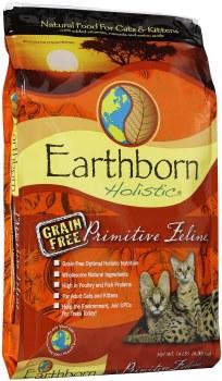 Earthborn Holistic Primitive Feline Grain Free Natural Dry Cat and Kitten Food 14lb