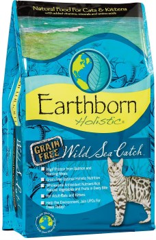 Earthborn Holistic Wild Sea Catch Grain Free Natural Dry Cat and Kitten Food 5lb