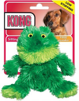 KONG Plush Frog Dog Toy Extra Small