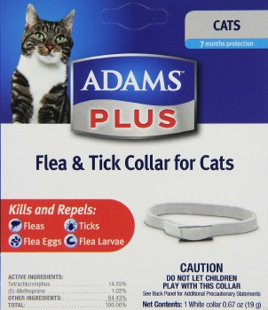 Adams Plus Flea And Tick Breakaway Collar For Cats And Kittens 7 Months Protection