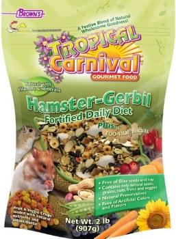 Browns Tropical Carnival Hamster And Gerbil Gourmet Food 2lb