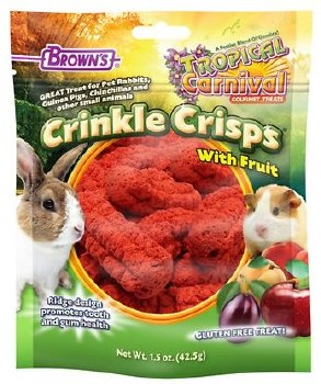 Brown's Tropical Carnival Crinkle Crisps with Fruit Small Animal Treats 1.5oz