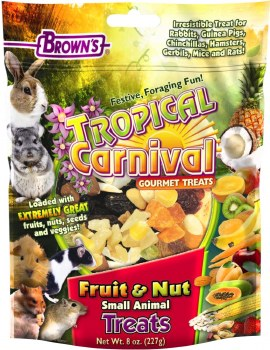 Brown's Tropical Carnival Fruit & Nut Small Animal Treats 8oz