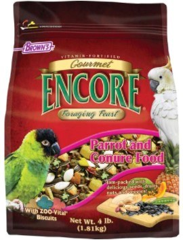 Browns Gourmet Encore Foraging Feast Parrot Food 4lbs