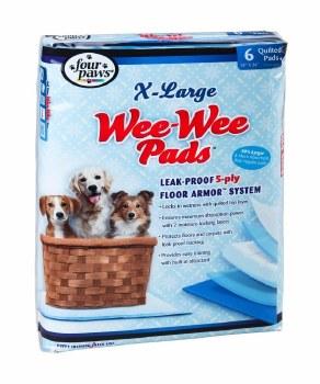 Wee Wee Pads XLarge 6 Pack