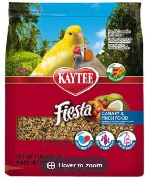 Kaytee Fiesta Variety Mix Canary & Finch Bird Food 2lb bag