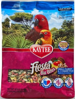 Kaytee Fiesta Variety Mix Big Bites Small Parrot & Conure Bird Food
