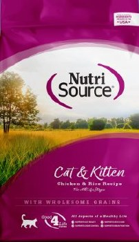 Nutrisource Chicken and Rice Cat and Kitten Formula 5lb