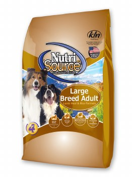 Nutrisource Large Breed Adult Lamb Meal and Rice Formula Dry Dog Food 30lb