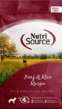 Nutrisource Beef and Rice Formula Dry Dog Food 30lb