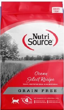 Nutrisource Grain Free Ocean Select Entree with Trout, Whitefish Meal, and Salmon Meal Protein Dry Cat Food 5lb