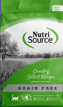 Nutrisource Grain Free Country Select Entree Chicken and Duck Meal Protein Dry Cat Food 5lb