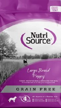 Nutrisource Grain Free Large Breed Puppy Turkey Whitefish and Menhaded Fish Meal Protein Dry Dog Food 30lb
